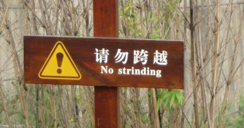 No strinding sign
