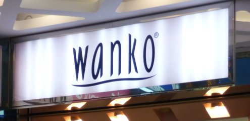 Sign saying 'Wanko'