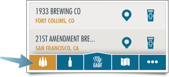 My GABF navigation options