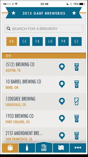 GABF app brewery list