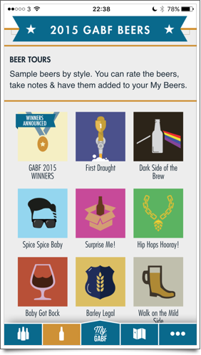 Beer tours in GABF app